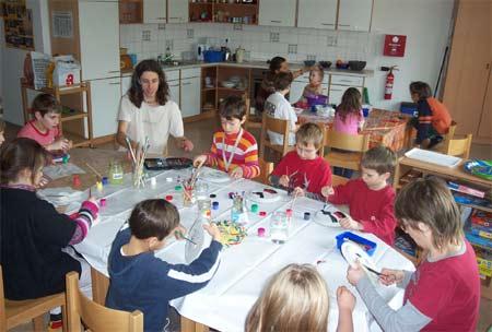 Maskenprojekt der Unterstufe 2 und Schülern der Ferienschlue Fläming